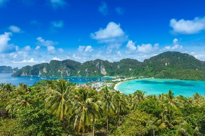 Phi phi island by big boat