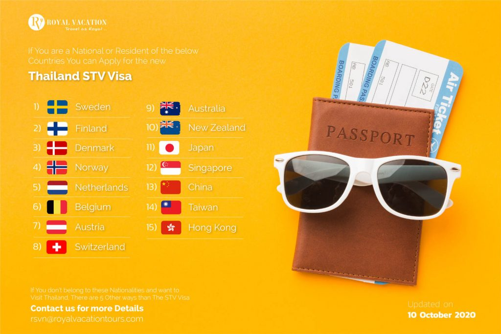 Thailand STV VIsa Countries Allowed