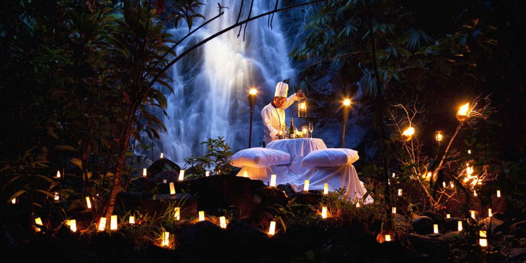 Private Dining Waterfall - Best Luxury Experiences in Thailand