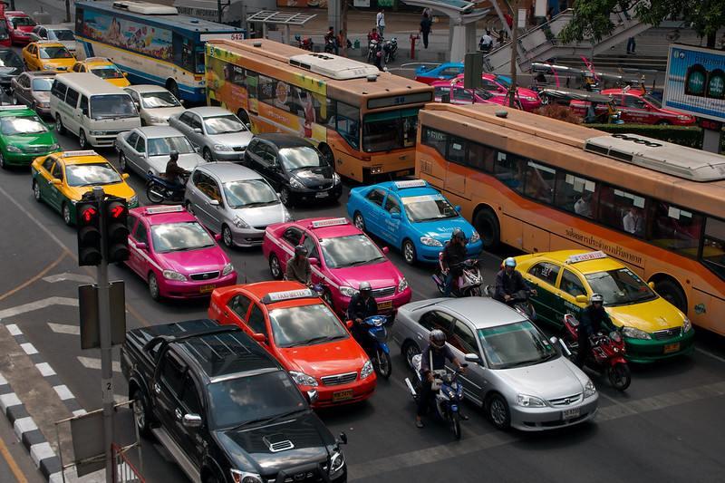 Taxi Colors in Bangkok